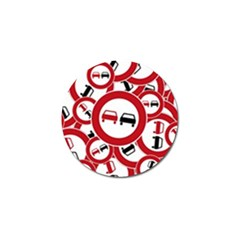 Overtaking Traffic Sign Golf Ball Marker