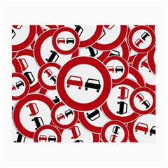 Overtaking Traffic Sign Small Glasses Cloth