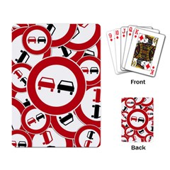 Overtaking Traffic Sign Playing Card