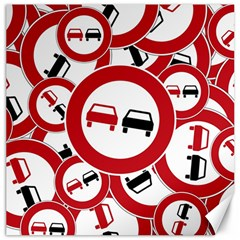 Overtaking Traffic Sign Canvas 16  X 16