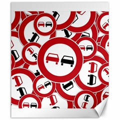 Overtaking Traffic Sign Canvas 20  X 24