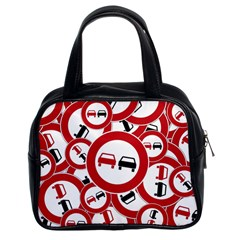 Overtaking Traffic Sign Classic Handbags (2 Sides)