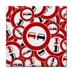 Overtaking Traffic Sign Face Towel