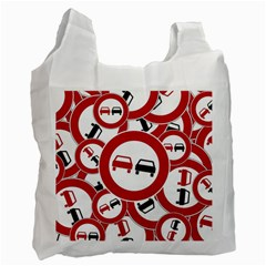 Overtaking Traffic Sign Recycle Bag (two Side)