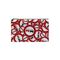 Overtaking Traffic Sign Cosmetic Bag (small)