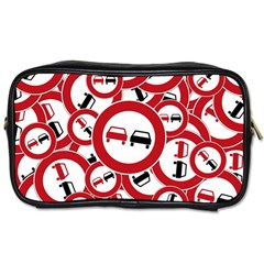Overtaking Traffic Sign Toiletries Bags 2 Side