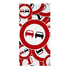 Overtaking Traffic Sign Shower Curtain 36  X 72  (stall)