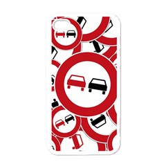 Overtaking Traffic Sign Apple Iphone 4 Case (white)