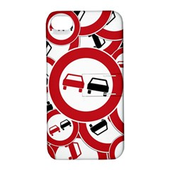 Overtaking Traffic Sign Apple Iphone 4/4s Hardshell Case With Stand