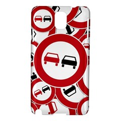 Overtaking Traffic Sign Samsung Galaxy Note 3 N9005 Hardshell Case