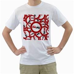 Overtaking Traffic Sign Men s T Shirt (white)