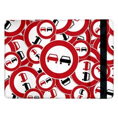 Overtaking Traffic Sign Samsung Galaxy Tab Pro 12 2  Flip Case
