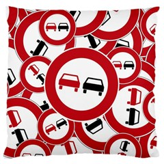 Overtaking Traffic Sign Standard Flano Cushion Case (two Sides)
