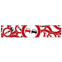 Overtaking Traffic Sign Small Flano Scarf