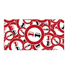Overtaking Traffic Sign Satin Wrap