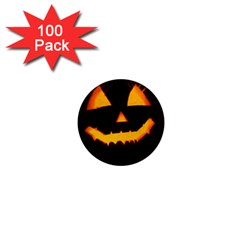 Pumpkin Helloween Face Autumn 1  Mini Magnets (100 Pack)