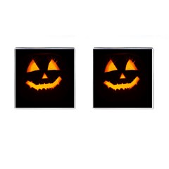Pumpkin Helloween Face Autumn Cufflinks (square)