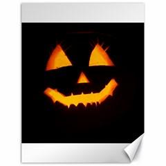 Pumpkin Helloween Face Autumn Canvas 18  X 24