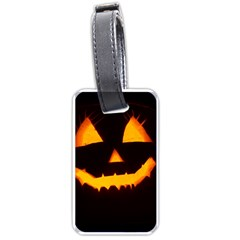 Pumpkin Helloween Face Autumn Luggage Tags (two Sides)