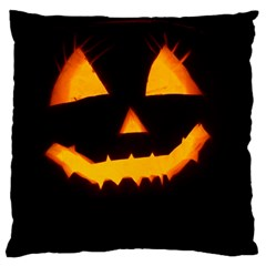 Pumpkin Helloween Face Autumn Large Cushion Case (one Side)