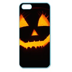 Pumpkin Helloween Face Autumn Apple Seamless Iphone 5 Case (color)