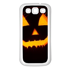 Pumpkin Helloween Face Autumn Samsung Galaxy S3 Back Case (white)