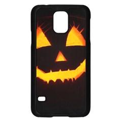 Pumpkin Helloween Face Autumn Samsung Galaxy S5 Case (black)