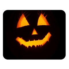 Pumpkin Helloween Face Autumn Double Sided Flano Blanket (large)