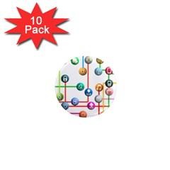 Icon Media Social Network 1  Mini Magnet (10 Pack)