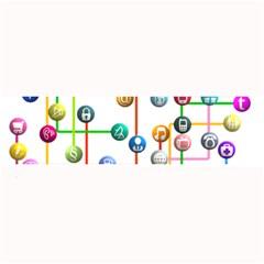 Icon Media Social Network Large Bar Mats