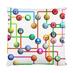 Icon Media Social Network Standard Cushion Case (two Sides)