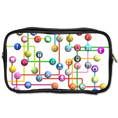 Icon Media Social Network Toiletries Bags