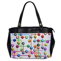Icon Media Social Network Office Handbags