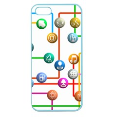 Icon Media Social Network Apple Seamless Iphone 5 Case (color)