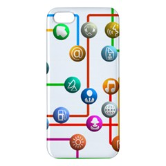 Icon Media Social Network Iphone 5s/ Se Premium Hardshell Case