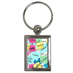 Stickies Post It List Business Key Chains (rectangle)