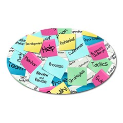Stickies Post It List Business Oval Magnet