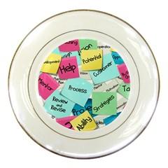 Stickies Post It List Business Porcelain Plates