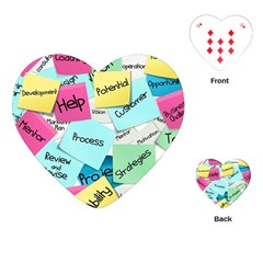 Stickies Post It List Business Playing Cards (heart)