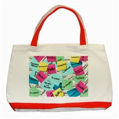 Stickies Post It List Business Classic Tote Bag (red)