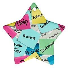 Stickies Post It List Business Star Ornament (two Sides)