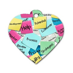 Stickies Post It List Business Dog Tag Heart (one Side)