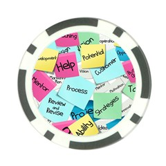 Stickies Post It List Business Poker Chip Card Guard (10 Pack)