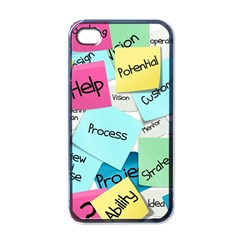 Stickies Post It List Business Apple Iphone 4 Case (black)