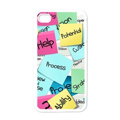 Stickies Post It List Business Apple Iphone 4 Case (white)
