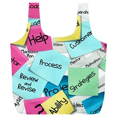 Stickies Post It List Business Full Print Recycle Bags (l)