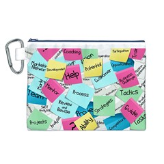 Stickies Post It List Business Canvas Cosmetic Bag (l)