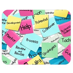 Stickies Post It List Business Double Sided Flano Blanket (medium)