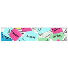 Stickies Post It List Business Small Flano Scarf