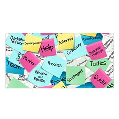 Stickies Post It List Business Satin Shawl
